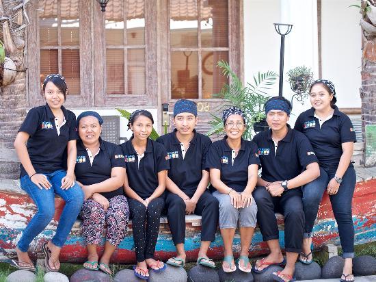 Padangbai, Indonesia: Our Kitchen Team