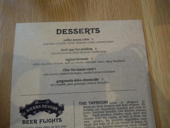 Desserts - Picture of Sierra Nevada Brewery, Mills River