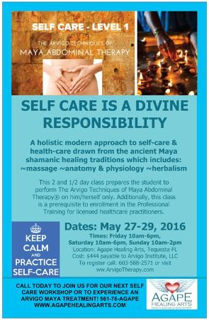 Arvigo Self Care Training May 27-29 - Picture of Agape Healing Arts