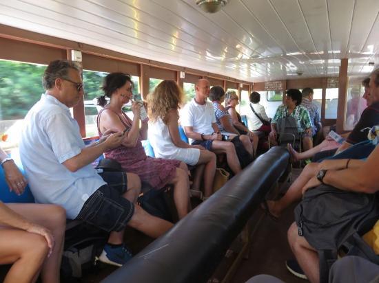 Circle Island Tour: seating inside