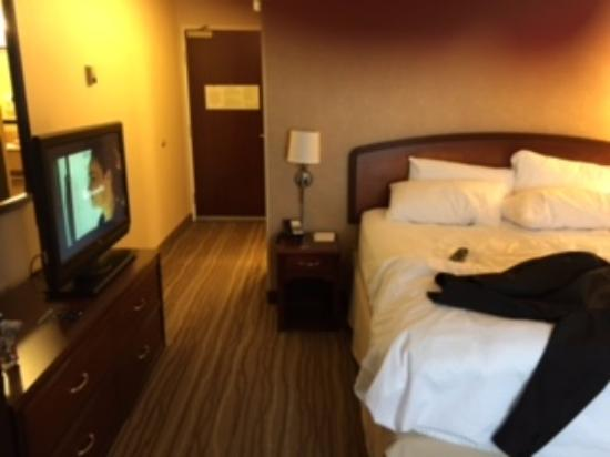 goofy tv position right next to the bed bathroom on the other side rh tripadvisor com