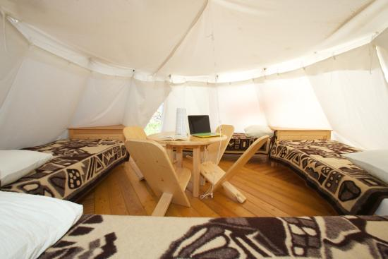 Turist Grabovac Tipi tents from the inside & Tipi tents from the inside - Picture of Turist Grabovac Grabovac ...