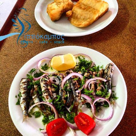 Ippokampos Tavern Cafe Snack: seafood - sardines