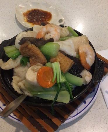 Hurstville, Australia: seafood pot with rice