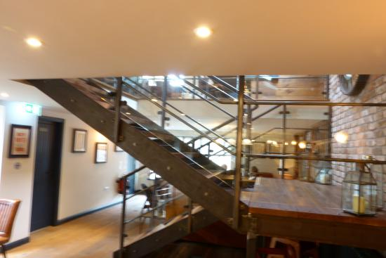 Tideswell, UK: The staircase leading to the upstairs dining room