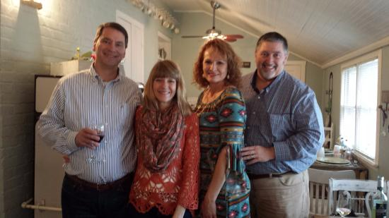 Weston, MO: Enjoying complimentary wine and cheese happy hour with our dear friends the Gibbs