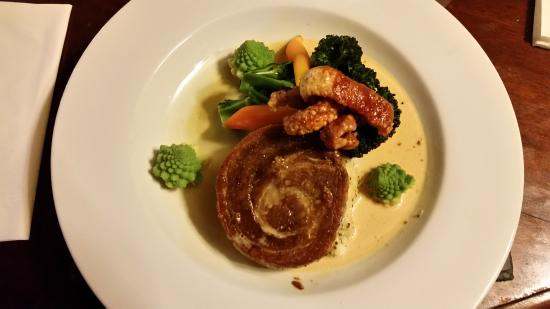 Rattery, UK: Belly Pork with mustard mash