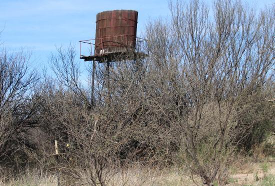Hereford, AZ: Historic water tower near San Pedro House