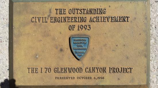 Glenwood Canyon: Plaque at Grizzly Creek rest area