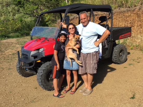 Play @ Cane Bay : That's us with Russ and Fido who took us for a spin up Mt Eagle in the Mule