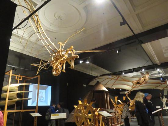 Leonardo D Exhibition : Flying machine picture of leonardo da vinci museum