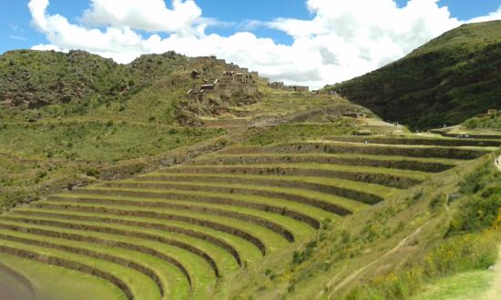 Pisac, Perú: terraces