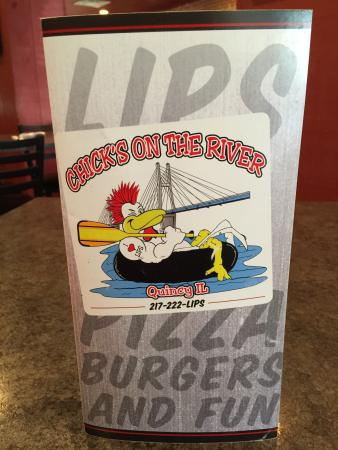 Quincy, IL: Faces the Mississippi River, BBQ Lips, menu