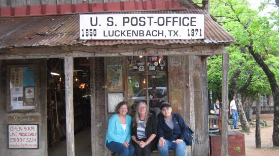 Luckenbach, TX: The Post Office and General Store is great!