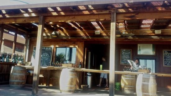 Sebastopol, Califórnia: View of outdoor tasting bar