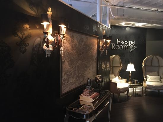 escape room (alexandria), interior reception area. - picture of