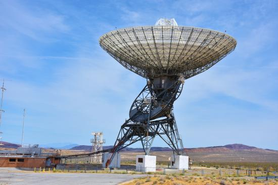 Fort Irwin, CA: 35 Meter in diameter Communications Device.