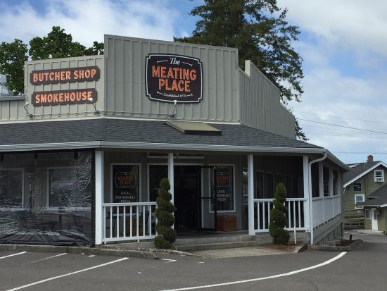 Exterior Meaning: The Meating Place, Hillsboro
