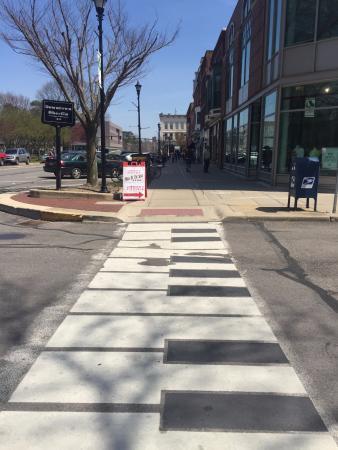Oberlin College: Piano key crosswalks!
