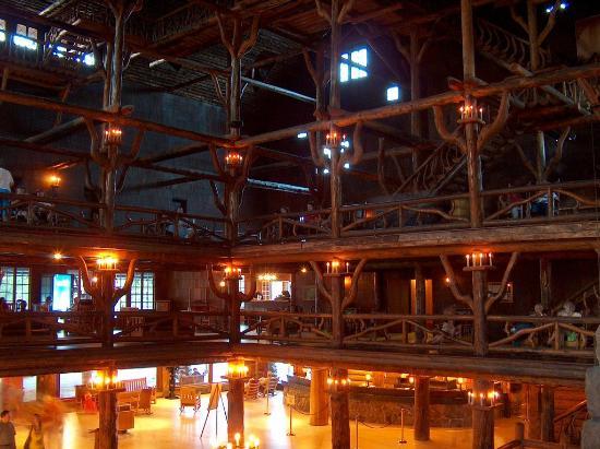 Old Faithful Inn interior