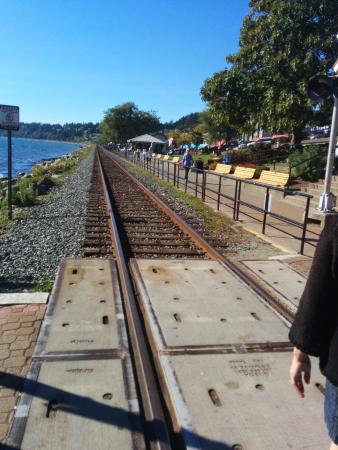 White Rock, Canada : The railway tracks