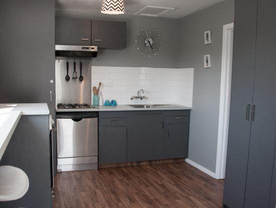 Pinedale Lodge & Apartment: Apartment Kitchen