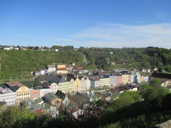Burghausen, Jerman: schönste Fassaden