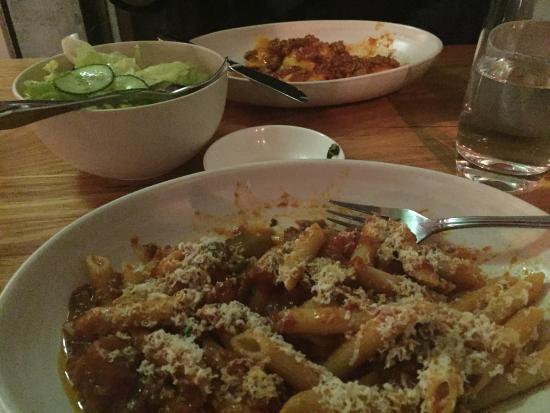 Rosa's Kitchen: Eggplant ragu and ravioli with pork ragu