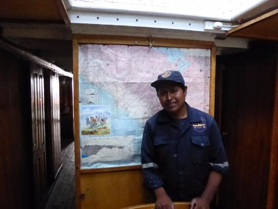Yavari: The wonderful guide and a map of the route the ship was carried over the mountains