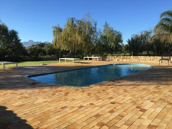 Skilpadvlei Wine Farm : Well situated cottages which as comfortably appointed with reasonable views down towards Stellen