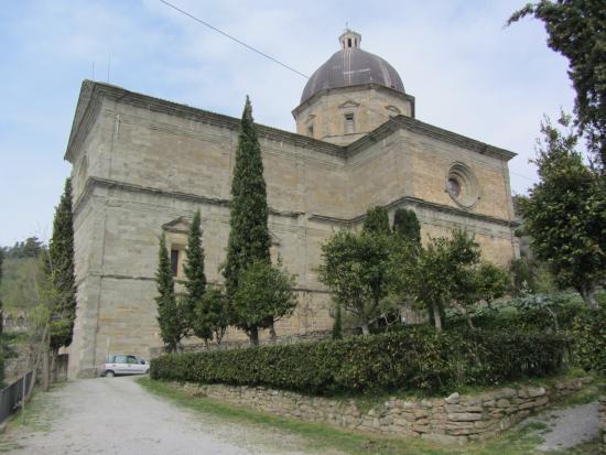 Santa Maria del Calcinaio: L'esterno dal giardino