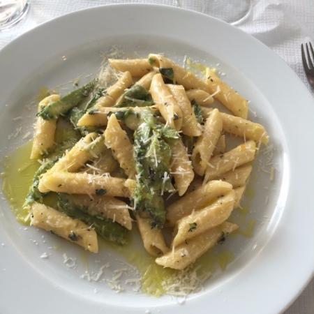 The River Cafe: Carbonara con Asparagi - £22