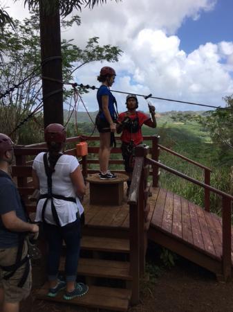 Koloa, Hawaje: string up first run