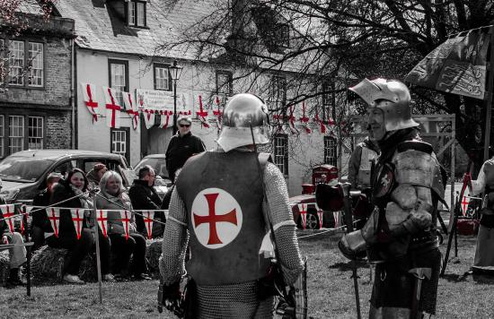 White Hart Hotel: St. George's Day on The Green 2016.
