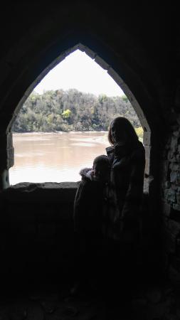 Exploring beautiful Chepstow Castle.