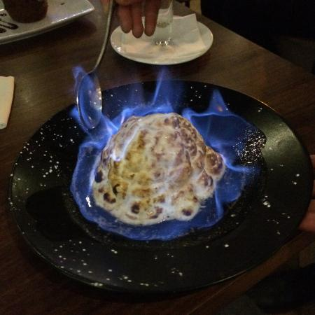 Et Alia: Strawberry Baked Alaska, great fun & a nice amaretto kick