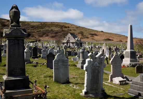 in the graveyard picture of st tudno s church llandudno