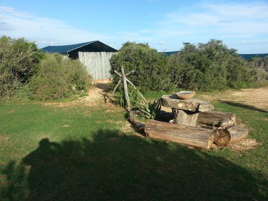 Addo, Sudáfrica: im Hintergrund eine der Übernachtungs-Hütten