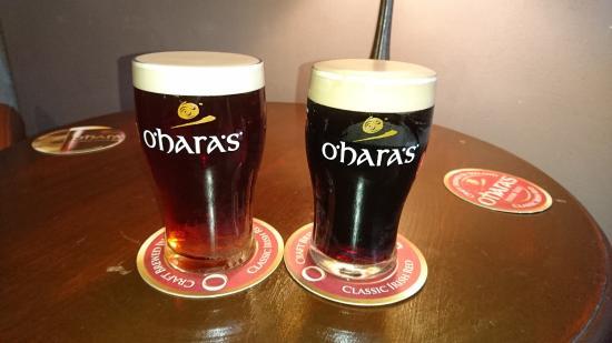 O'Hara's Brewery Corner: Une red nitro et une stout, quelle mousse!