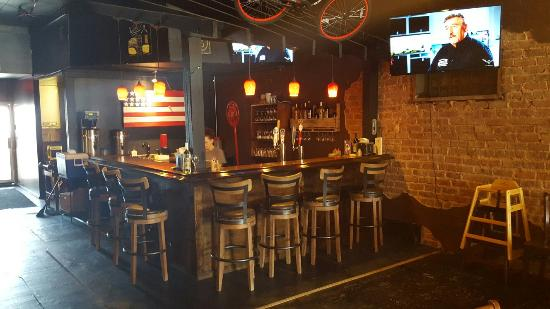 """Piedmont, AL: Solid Rock Cafe Check out the """"penny bar"""""""