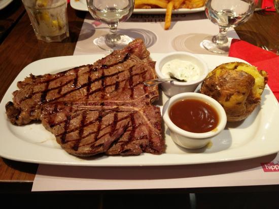 T bone picture of hippopotamus paris tripadvisor - Hippopotamus restaurant grill ...