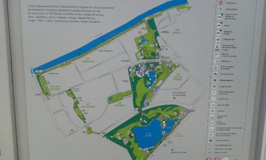 Gennevilliers, Prancis: Plan du parc en 2016