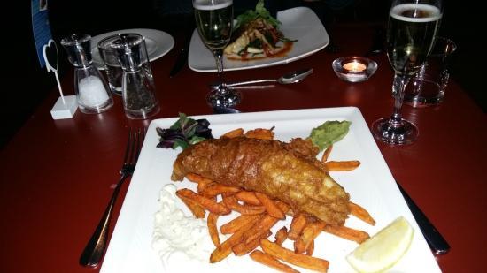 Thorpe le Soken, UK: Posh fish and chips