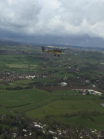 Airways Airsports: View of Tiger Moth from same airfield