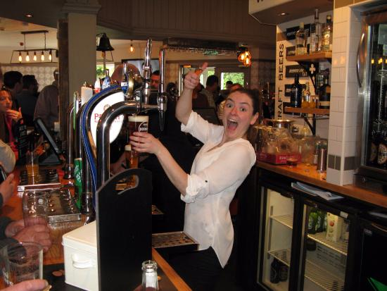 Gemma hard at work behind the bar - Picture of Red Arrow ...