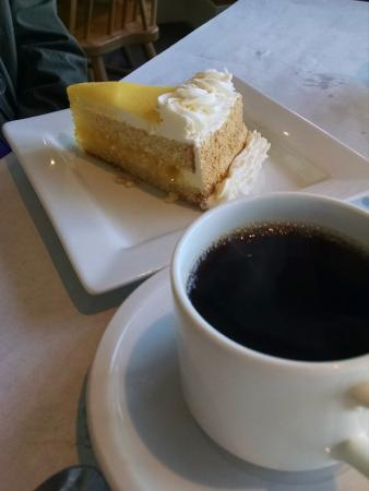 North Hero, VT: dessert and excellent coffee