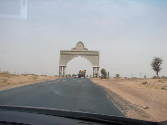 Senegal: Entrée de La ville de Touba