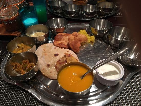 Enjoying st anniversary special thali picture of rasoi ghar