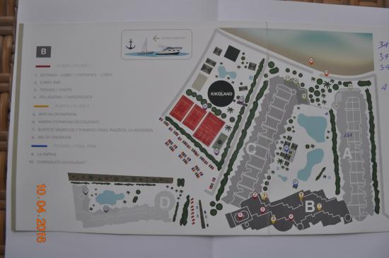 Princesa Yaiza Suite Hotel Resort: Plan hotelu , który winien znajdować się w ofercie