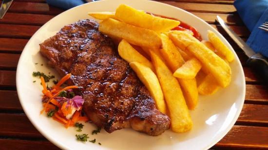 YachtSea Grille: K. C. Ribeye with steak fries